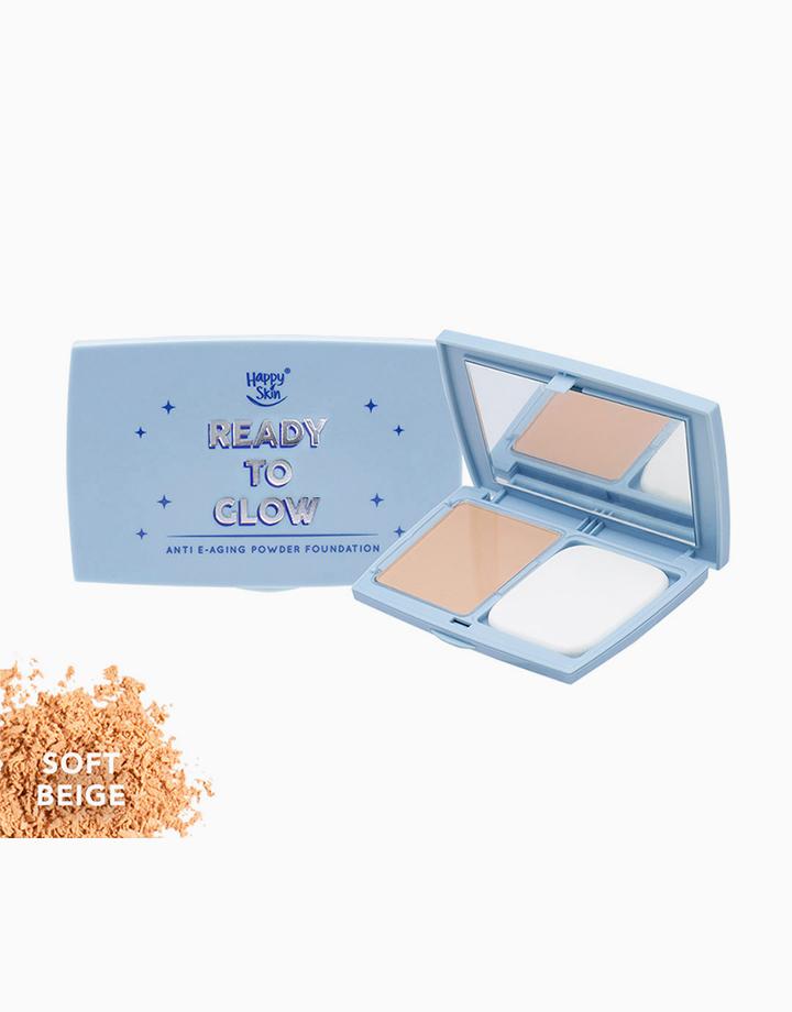 Ready to Glow Anti E-Aging Powder Foundation by Happy Skin | Soft Beige