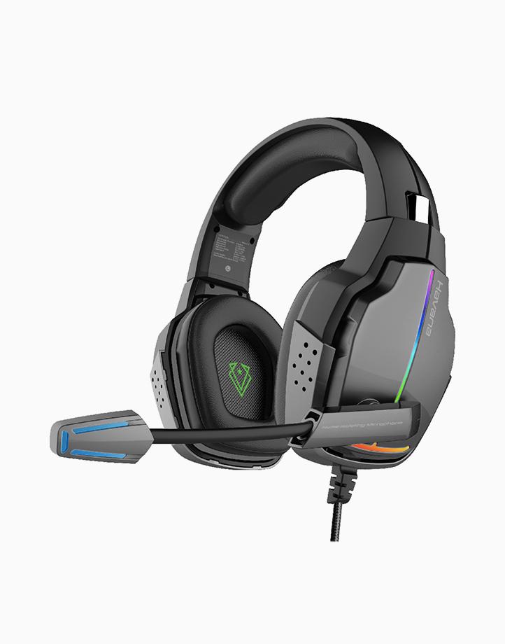 Havana High Fidelity 3.5mm Over-Ear Gaming Headphone with 7 RGB Colours, Rotatable Headband & Mic - Black by Vertux