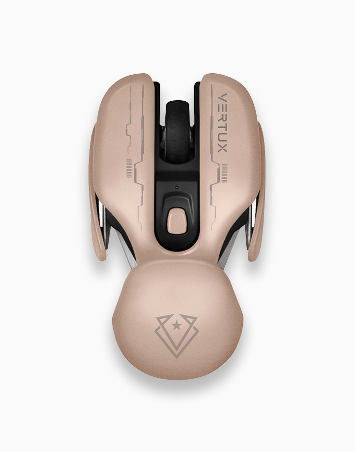 Glider Ergonomic 800/1200/1600 Dpi Wireless Rechargeable Gaming Mouse - Light-Pink by Vertux