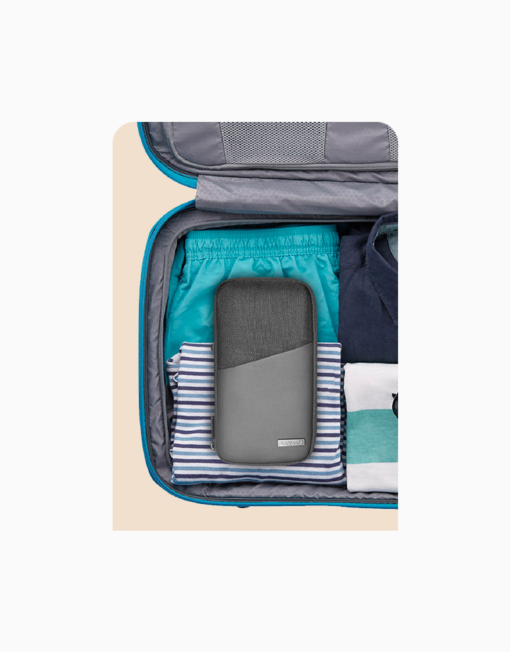 PA-Wallet Multi-Document Holder Leatherette Travel Pouch with Strap by Promate