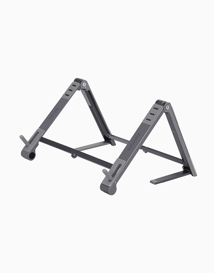 Elevate Multi-Level Portable Aluminium Stand for Laptops, Tablets and Smartphones by Promate | Grey