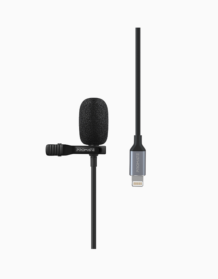 Clipmic-I High Sensitivity Lavaliere Microphone with Lightning Cable & Clip by Promate