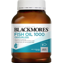 Fish Oil 1000 Odourless (400s) by Blackmores