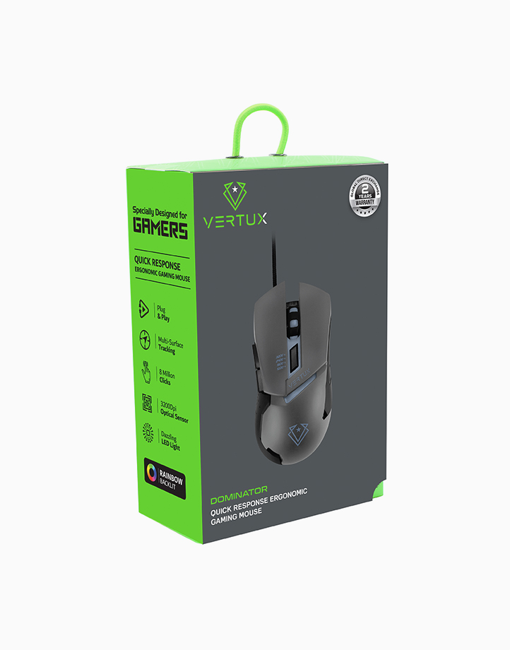 Dominator 3200Dpi High Precision Wired Optical Gaming Mouse by Vertux   Grey