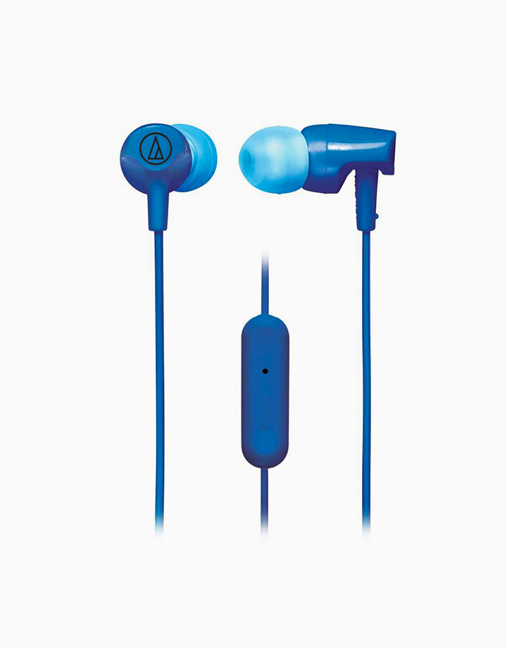 In-Ear Headphones with In-line Mic & Control by Audio-Technica   Blue