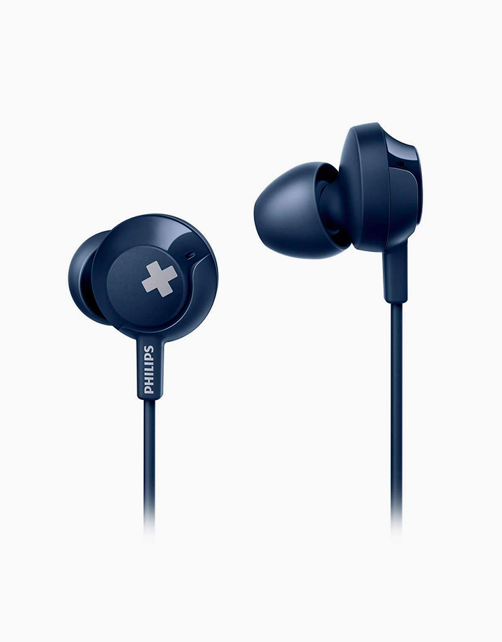 Bass+ In-Ear Headphones with Mic by Philips | Blue