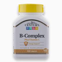 B Complex Plus Vitamin C (100 Tablets) by 21st Century