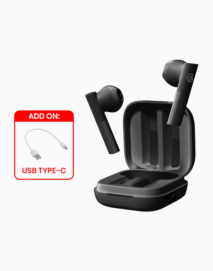 GT6 True Wireless Earbuds w/ Free Type-C Cable by Haylou   Black