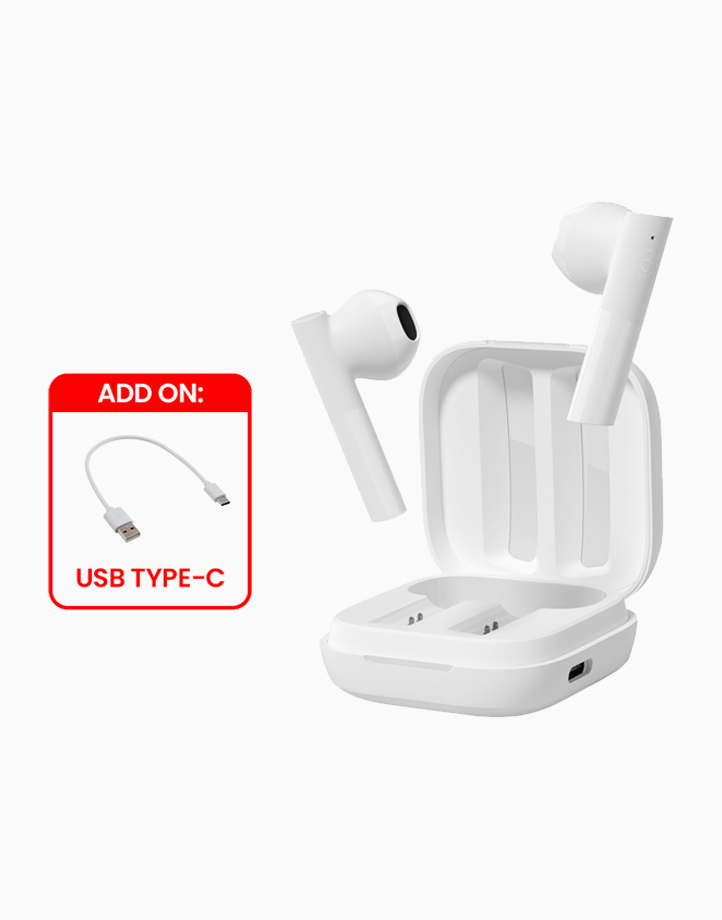 GT6 True Wireless Earbuds w/ Free Type-C Cable by Haylou   White