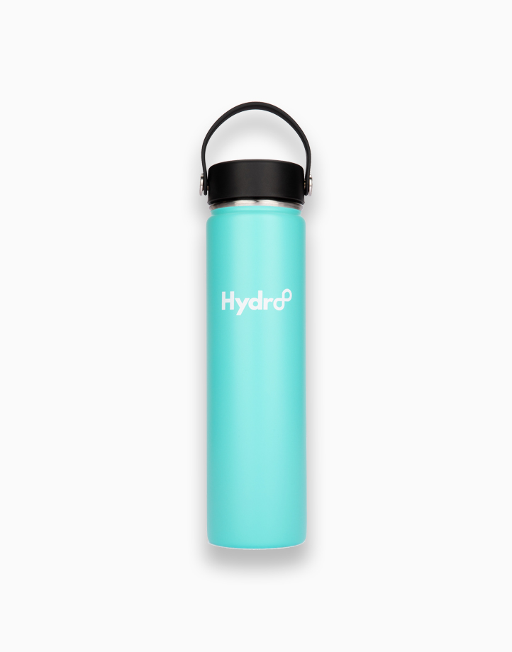 Hydr8 24 oz. (750 ml) Wide Mouth Insulated Stainless Steel Water Bottle / Tumbler by Hydr8 | Aqua Blue