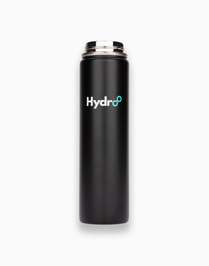 Hydr8 24 oz. (750 ml) Wide Mouth Insulated Stainless Steel Water Bottle / Tumbler by Hydr8 | Black