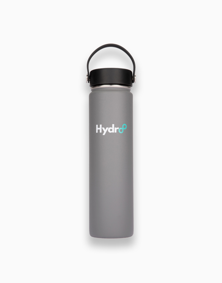 Hydr8 24 oz. (750 ml) Wide Mouth Insulated Stainless Steel Water Bottle / Tumbler by Hydr8 | Gray