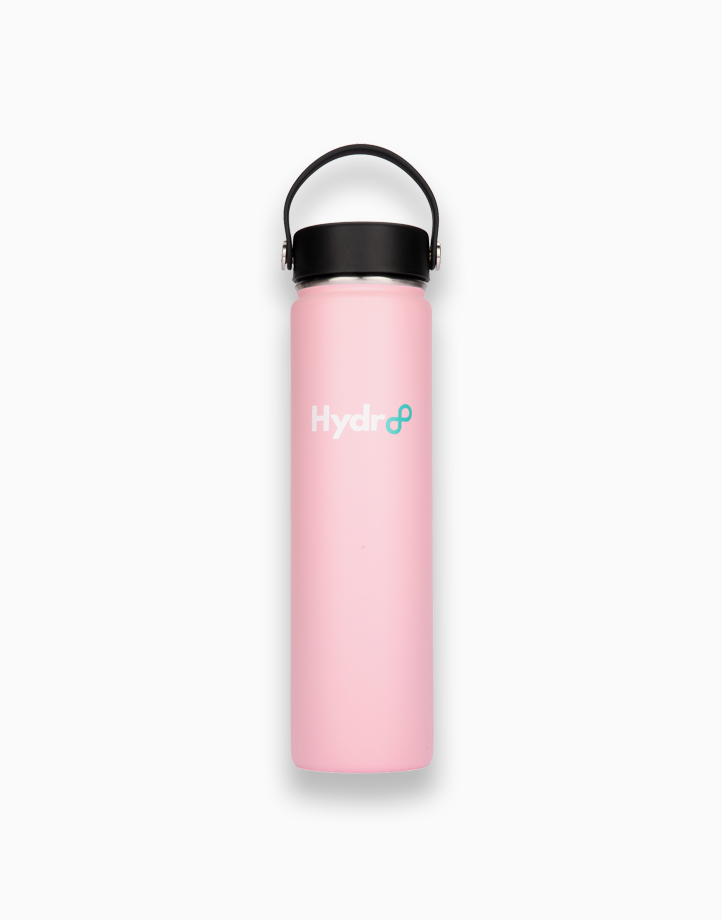 Hydr8 24 oz. (750 ml) Wide Mouth Insulated Stainless Steel Water Bottle / Tumbler by Hydr8 | Pink