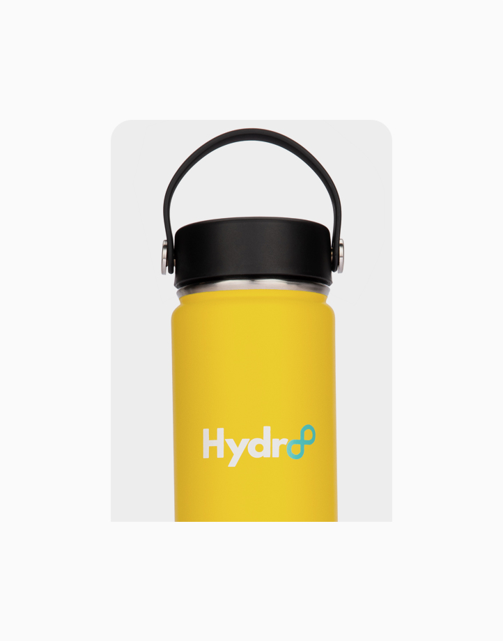 Hydr8 24 oz. (750 ml) Wide Mouth Insulated Stainless Steel Water Bottle / Tumbler by Hydr8 | Yellow