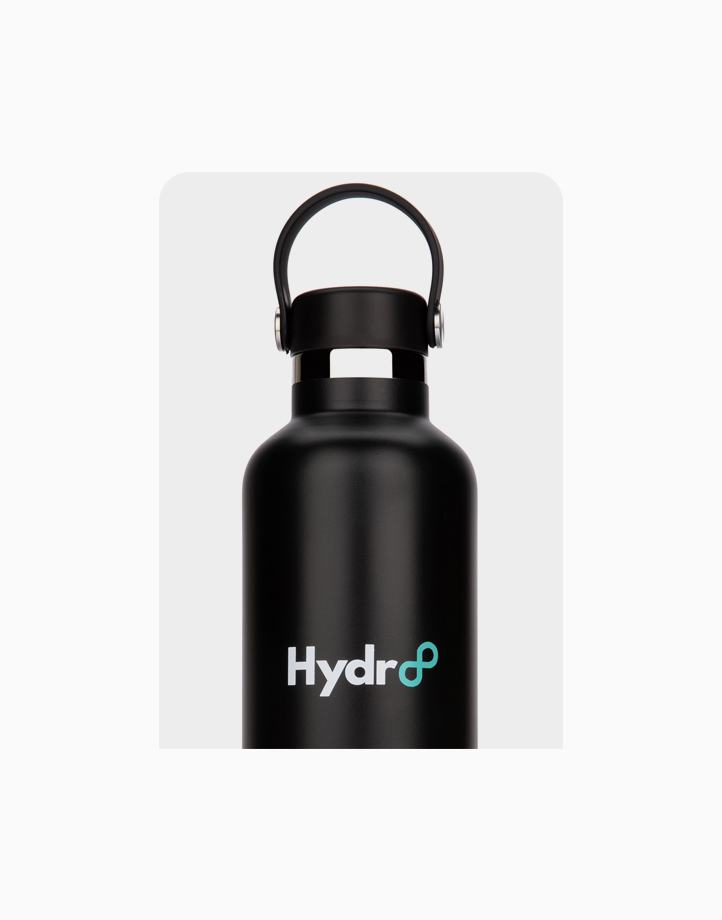 Hydr8 32 oz. (1000 ml) Standard Mouth Insulated Stainless Steel Water Bottle / Tumbler by Hydr8   Black
