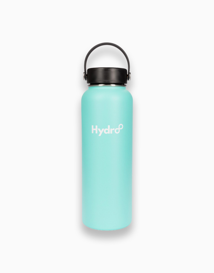 Hydr8 40 oz. (1180 ml) Wide Mouth Insulated Stainless Steel Water Bottle Tumbler by Hydr8   Aqua Blue