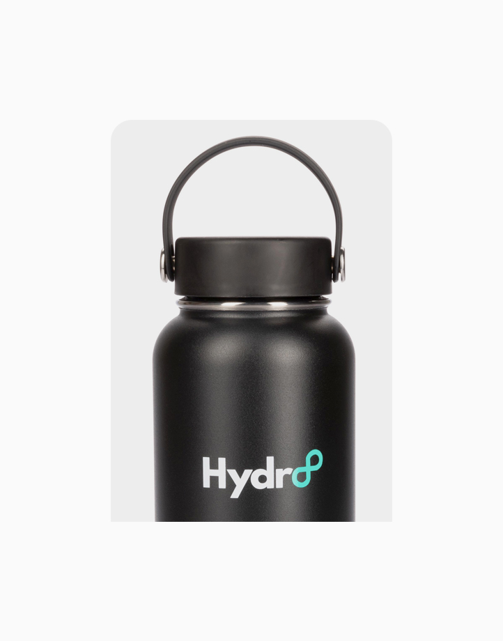 Hydr8 40 oz. (1180 ml) Wide Mouth Insulated Stainless Steel Water Bottle Tumbler by Hydr8   Aqua Black