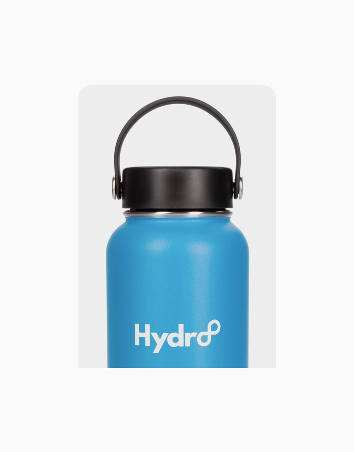 Hydr8 40 oz. (1180 ml) Wide Mouth Insulated Stainless Steel Water Bottle Tumbler by Hydr8   Blue