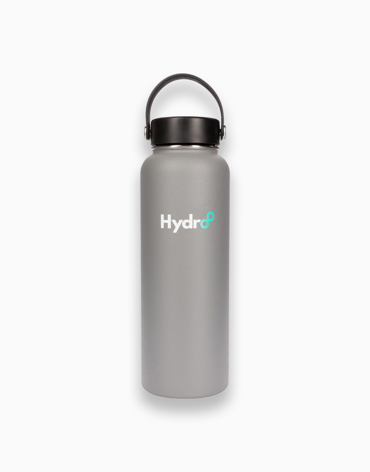 Hydr8 40 oz. (1180 ml) Wide Mouth Insulated Stainless Steel Water Bottle Tumbler by Hydr8   Gray