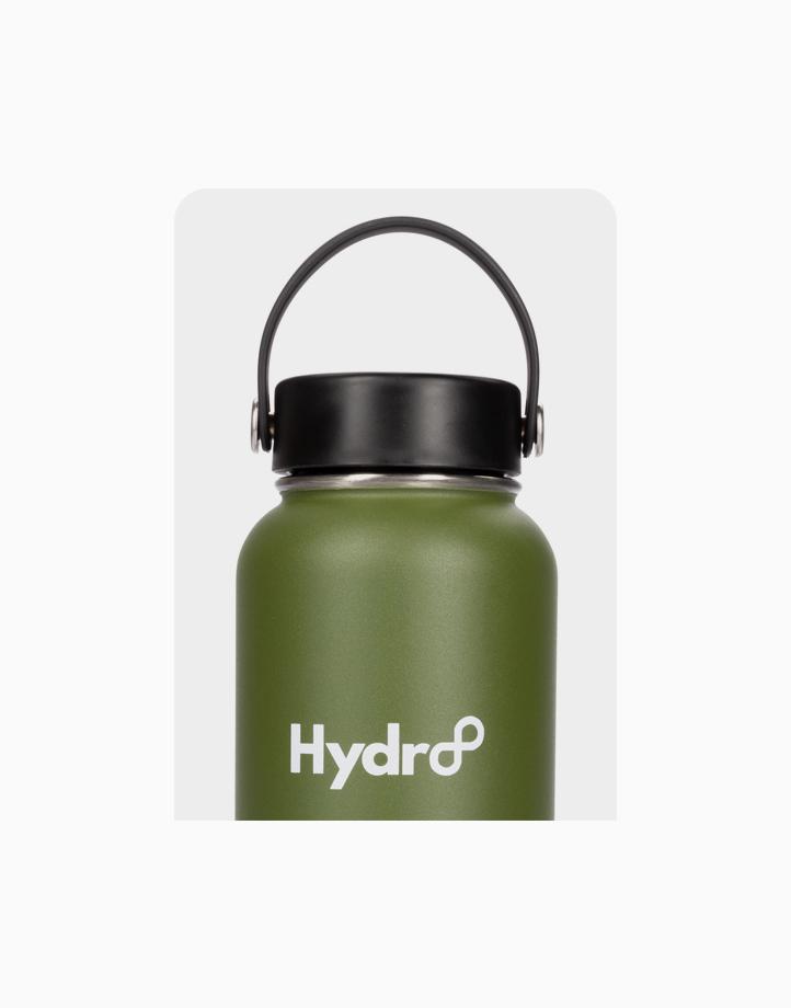 Hydr8 40 oz. (1180 ml) Wide Mouth Insulated Stainless Steel Water Bottle Tumbler by Hydr8   Green