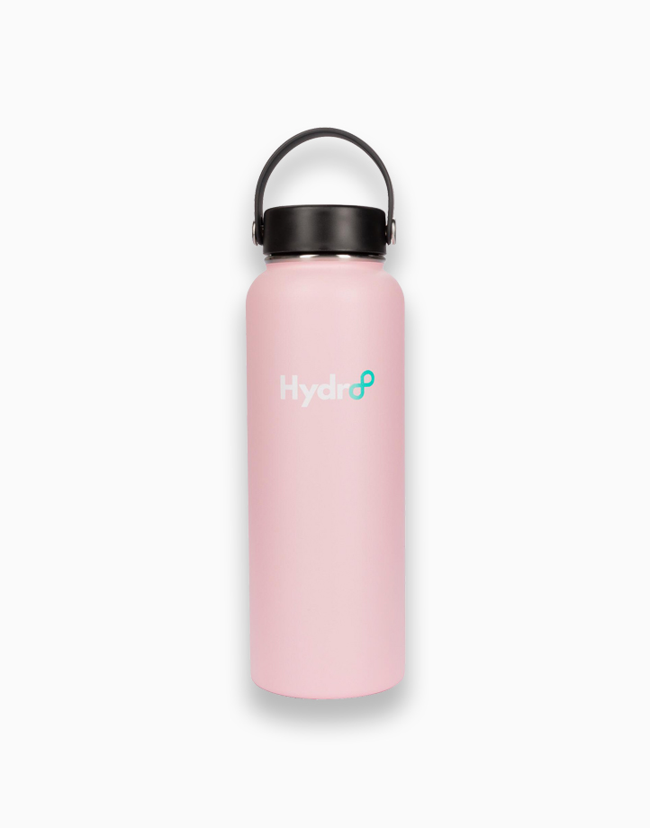Hydr8 40 oz. (1180 ml) Wide Mouth Insulated Stainless Steel Water Bottle Tumbler by Hydr8   Pink