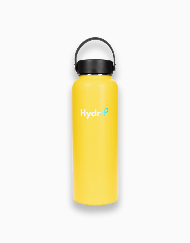 Hydr8 40 oz. (1180 ml) Wide Mouth Insulated Stainless Steel Water Bottle Tumbler by Hydr8   Yellow