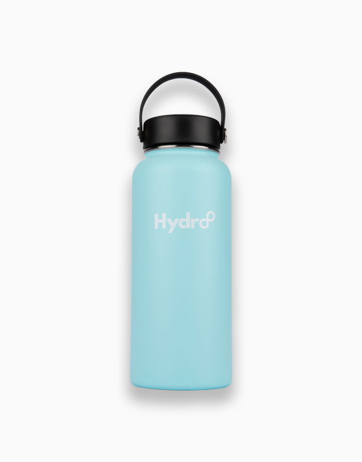 Hydr8 32 oz. (946 ml) Wide Mouth Insulated Stainless Steel Water Bottle Tumbler by Hydr8   Light Blue