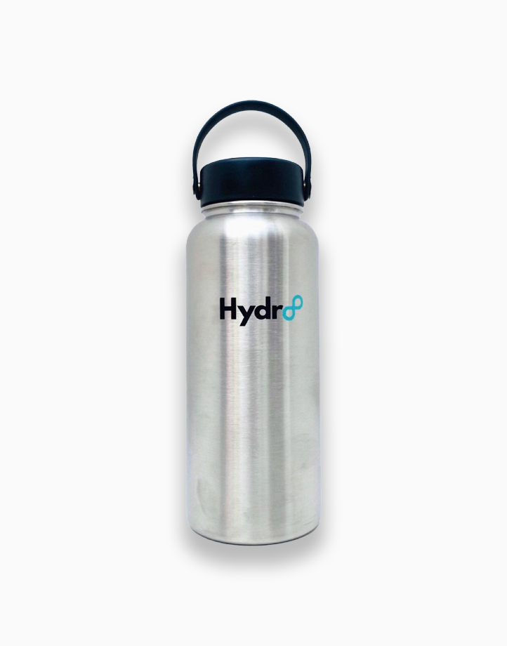 Hydr8 32 oz. (946 ml) Wide Mouth Insulated Stainless Steel Water Bottle Tumbler by Hydr8   Silver