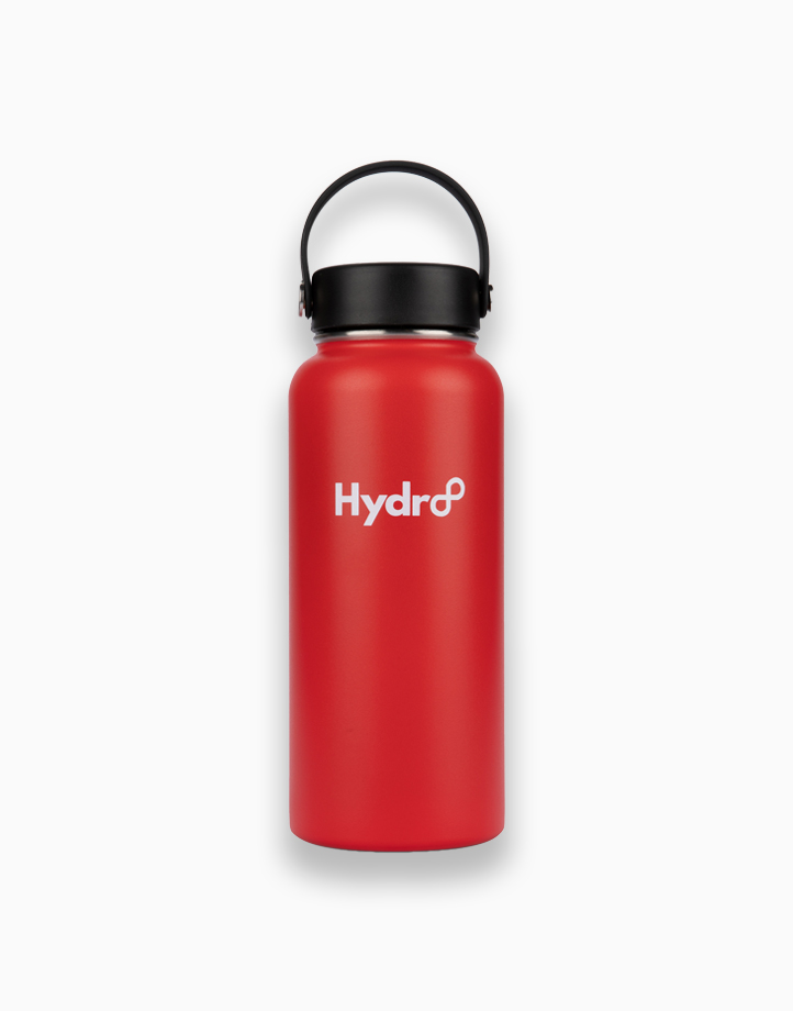 Hydr8 32 oz. (946 ml) Wide Mouth Insulated Stainless Steel Water Bottle Tumbler by Hydr8   Red