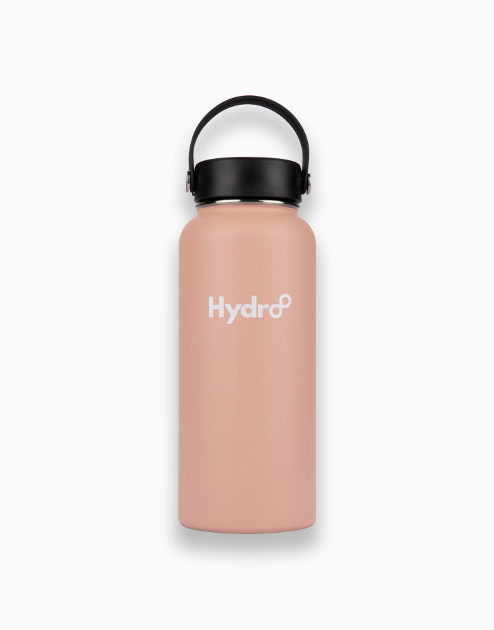 Hydr8 32 oz. (946 ml) Wide Mouth Insulated Stainless Steel Water Bottle Tumbler by Hydr8   Nude Pink