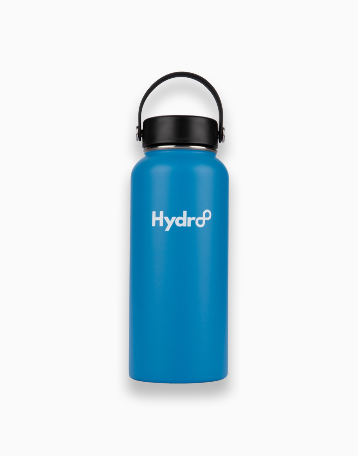 Hydr8 32 oz. (946 ml) Wide Mouth Insulated Stainless Steel Water Bottle Tumbler by Hydr8   Blue