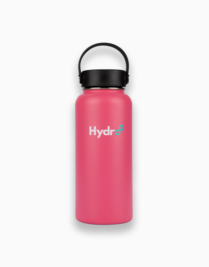 Hydr8 32 oz. (946 ml) Wide Mouth Insulated Stainless Steel Water Bottle Tumbler by Hydr8   Rose Pink
