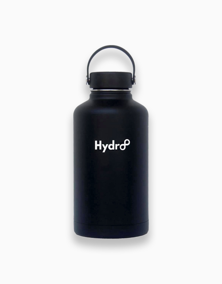 Hydr8 64 oz. (1892 ml) Wide Mouth Insulated Stainless Steel Water Bottle Tumbler by Hydr8 | Black