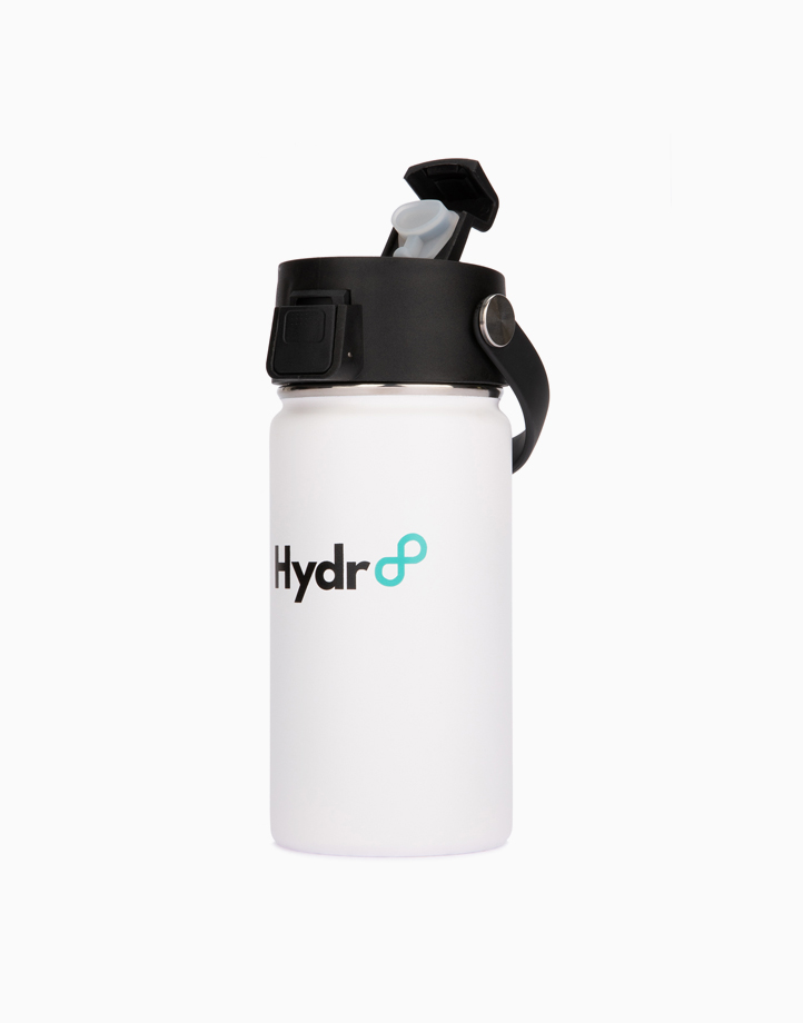 Hydr8 12 oz. (350 ml) Wide Mouth Insulated Stainless Steel Water Bottle Tumbler by Hydr8 | White