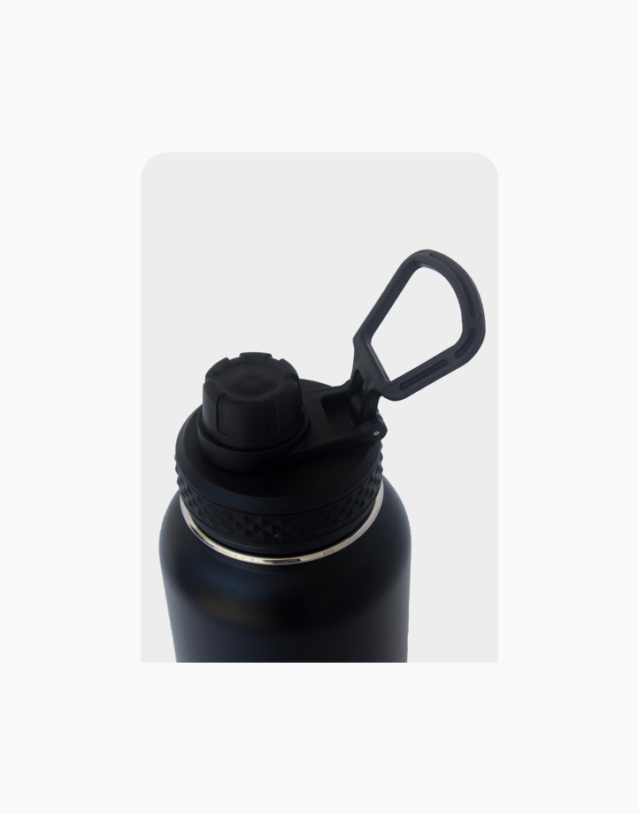 Hydr8 Sports Cap for Wide Mouth Insulated Water Bottle Tumbler by Hydr8 | Black