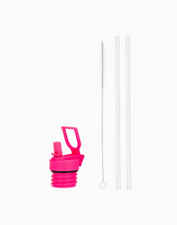 Hydr8 Straw Lid for Standard Mouth 32oz and 21oz Insulated Water Bottle Tumbler by Hydr8   Pink