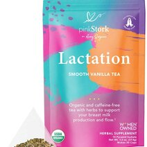 Lactation Tea: Smooth Vanilla Nursing Tea (30 Cups) by Pink Stork