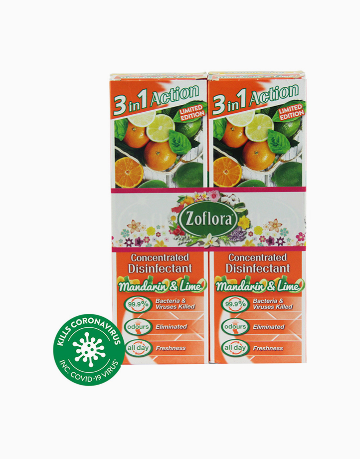 Disinfectant Spray (2 x 250ml) by Zoflora | Mandarin & Lime
