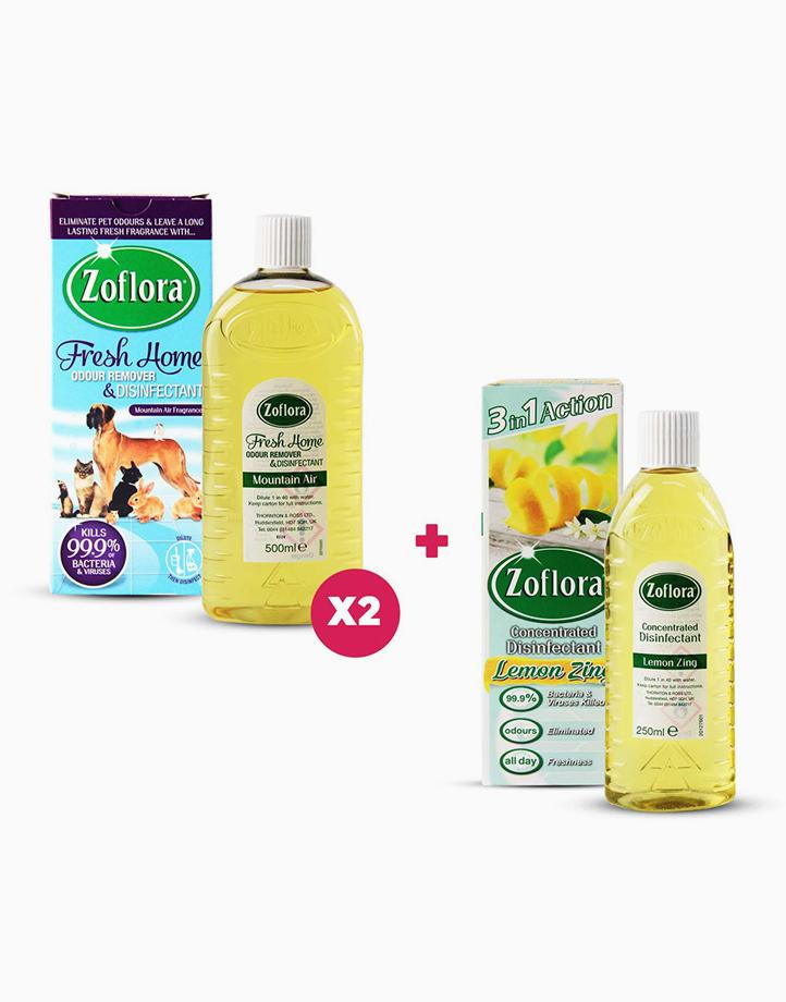 Fresh Home Mountain Air + Lemon Zing Bundle (Buy 2 500ml, Get 1 250ml) by Zoflora
