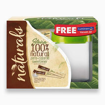 Natural Stevia Zero Calorie Sweetener (100 Sticks w/ Free Luminarc Vacuum Jar) by Equal Philippines