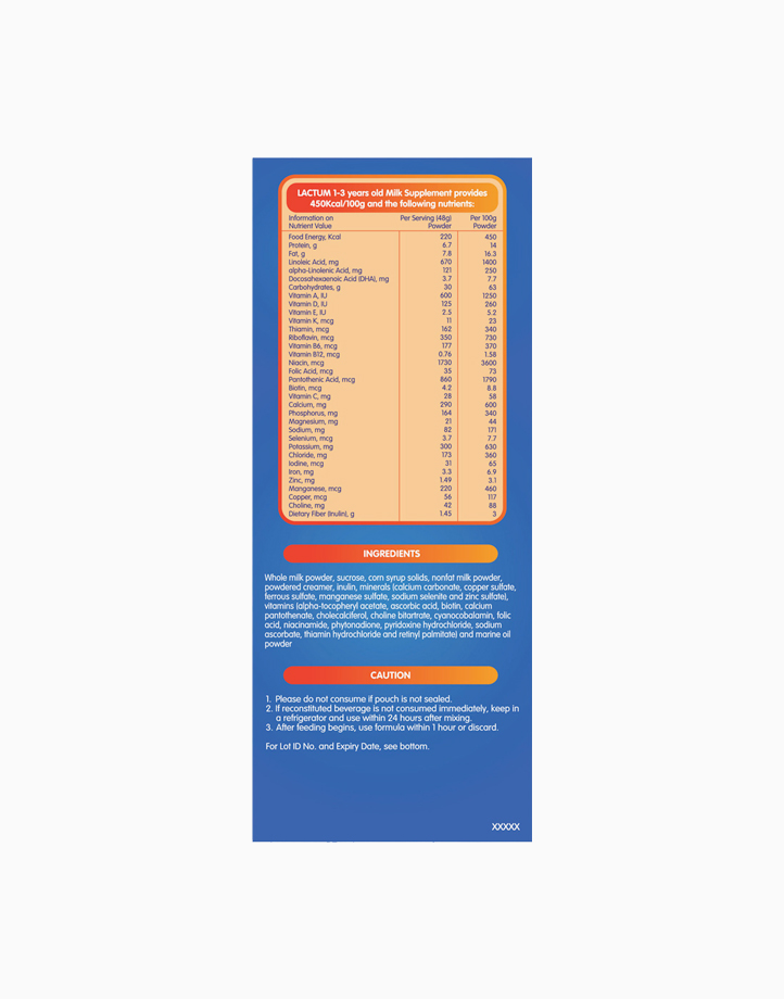 Lactum for 1-3 Years Old Plain Milk Supplement Powder (1.6kg) by Lactum