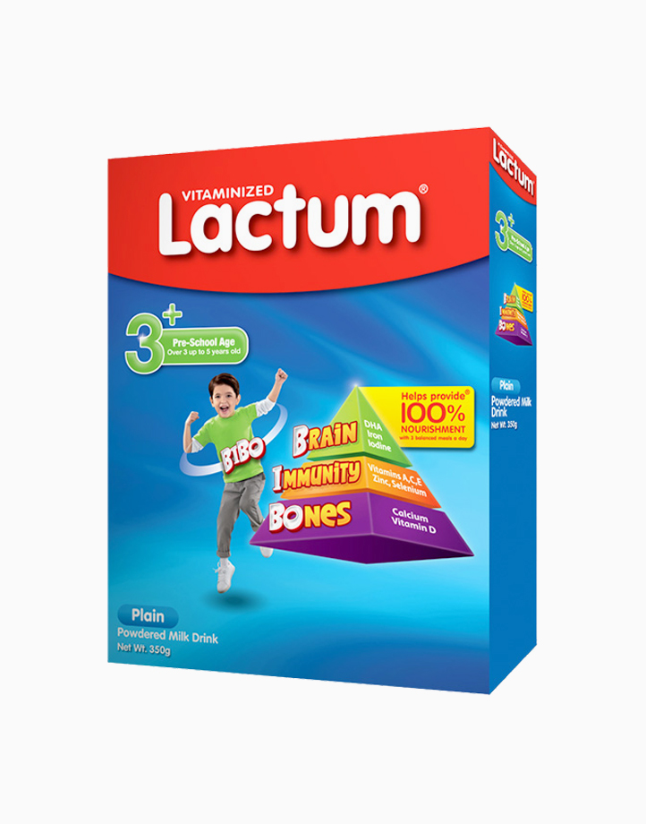 Lactum 3+ Plain Powdered Milk Drink for Children Over 3 up to 5 Years Old (350g) by Lactum