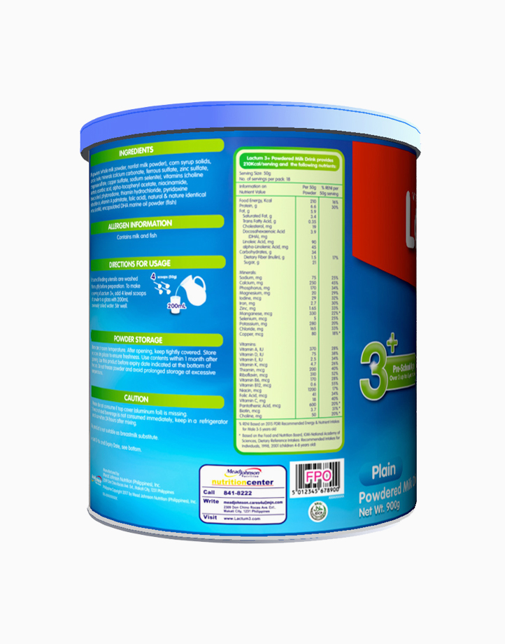 Lactum 3+ Plain Powdered Milk Drink for Children Over 3 up to 5 Years Old (900g) by Lactum