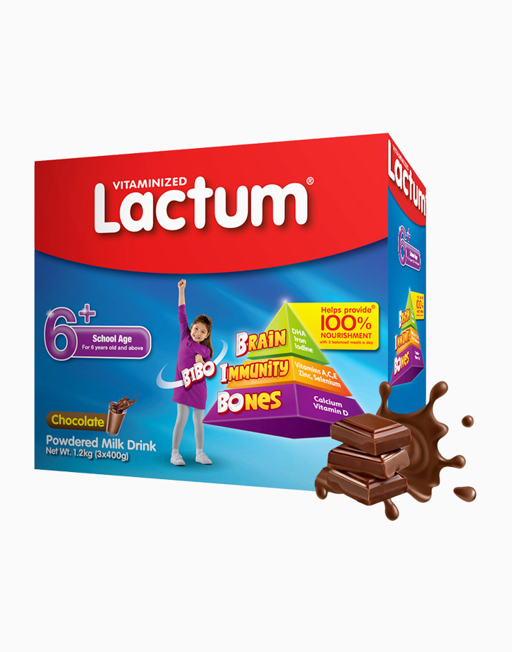 Lactum 6+ Chocolate Powdered Milk Drink for Children 6 Years Old and Above (1.2kg) by Lactum