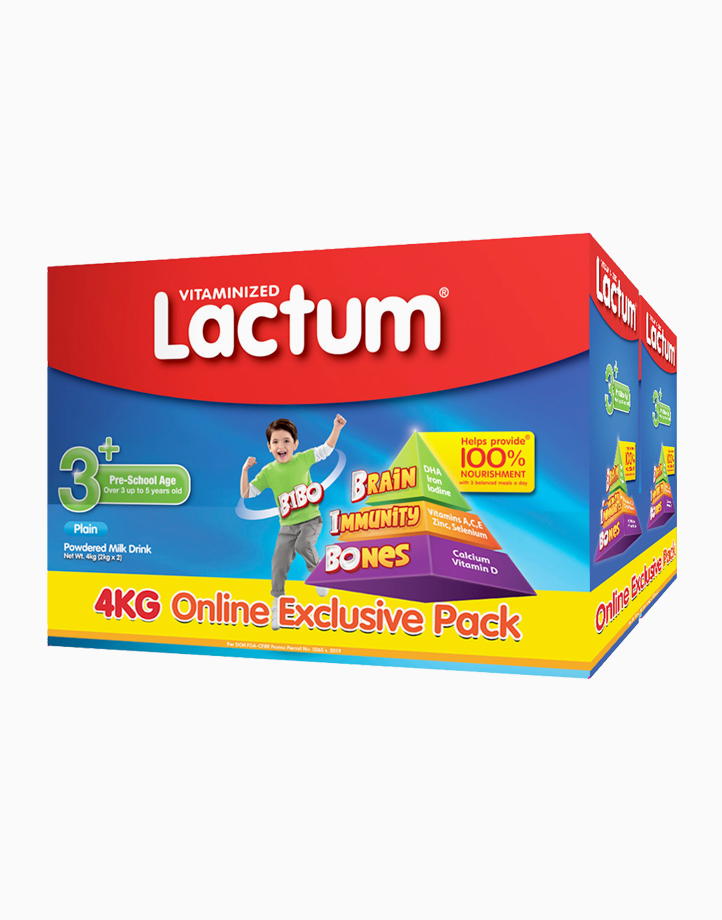 Lactum 3+ Plain Powdered Milk Drink for Children Over 3 up to 5 Years Old (4kg) (2kg x 2) by Lactum
