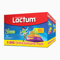 Lactum 3+ Plain Powdered Milk Drink for Children Over 3 up to 5 Years Old (3.2kg) (1.6kg x 2) by Lactum