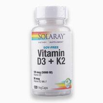 Vitamin D3 + K2 - Soy Free (120 VegCaps) by Solaray