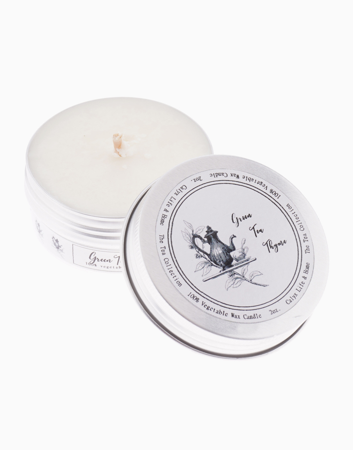 Green Tea Thyme Soy Candle - 2oz. by Calyx Life & Home