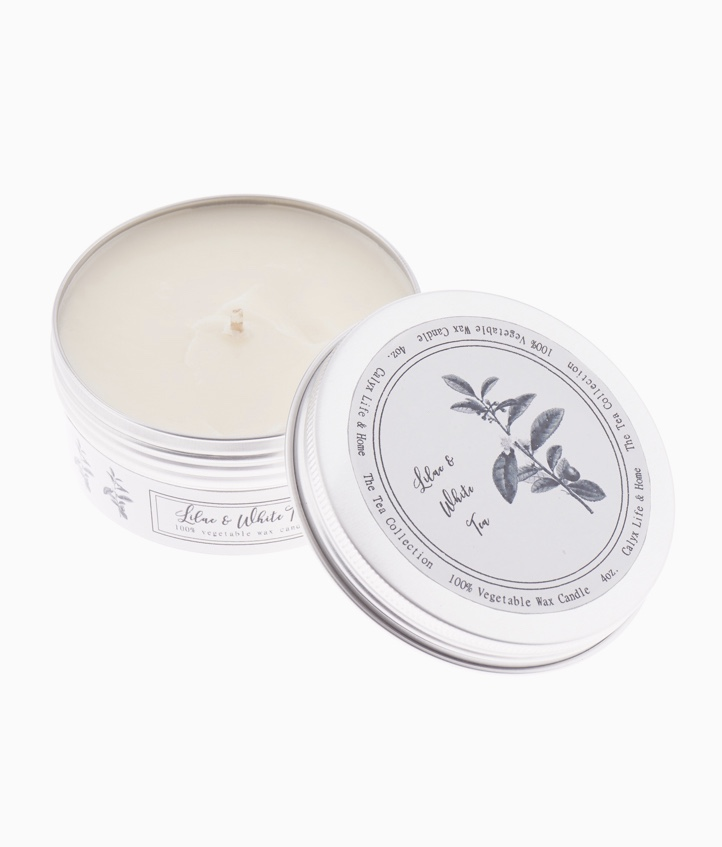 Lilac & White Tea Soy Candle - 4oz. by Calyx Life & Home