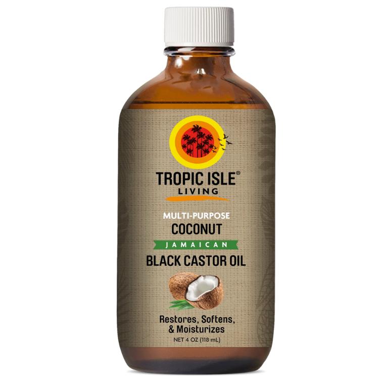 Coconut Jamaican Black Castor Oil  (4oz / 118ml) by Tropic Isle